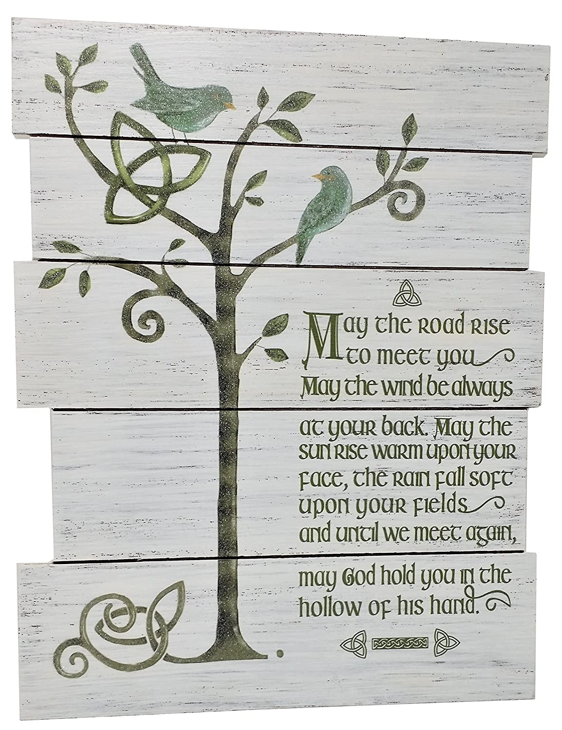 """Grasslands Road Celebrating Heritage Celtic """"May the Road"""" Wood Wall Hanging"""