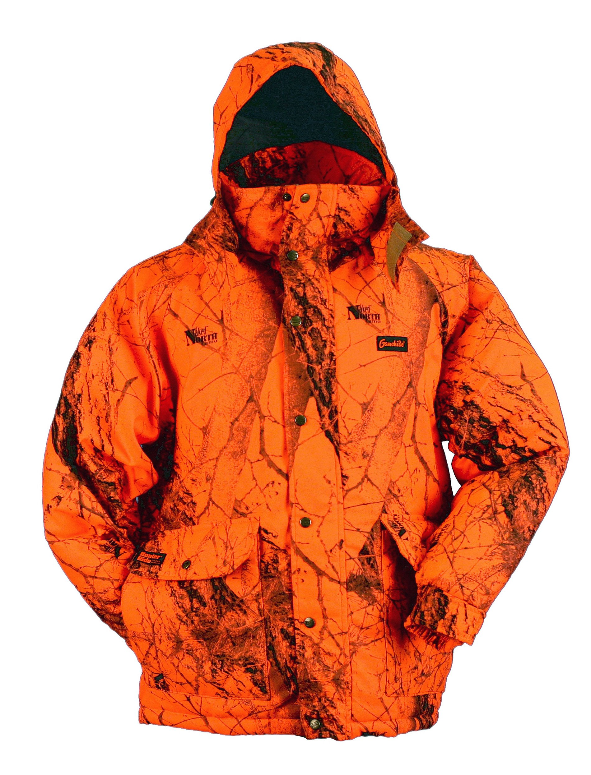 Gamehide Deerhunter Blaze Orange Camo Parka (Naked North Blaze Orange Camo, Large) by Gamehide