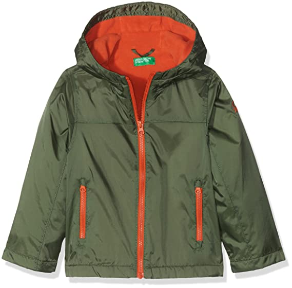 United Colors of Benetton, Chaqueta con Capucha para Niños, Verde (Dark Green 12G