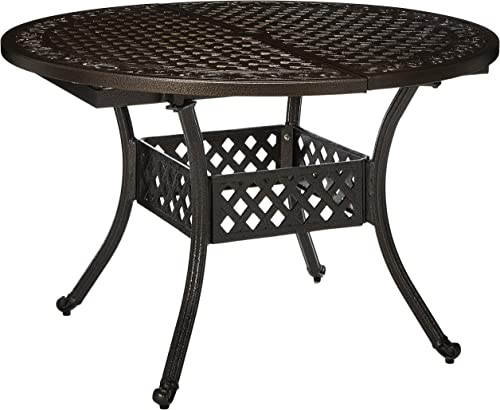 Christopher Knight Home Stock Island Outdoor Expandable Aluminum Dining Table