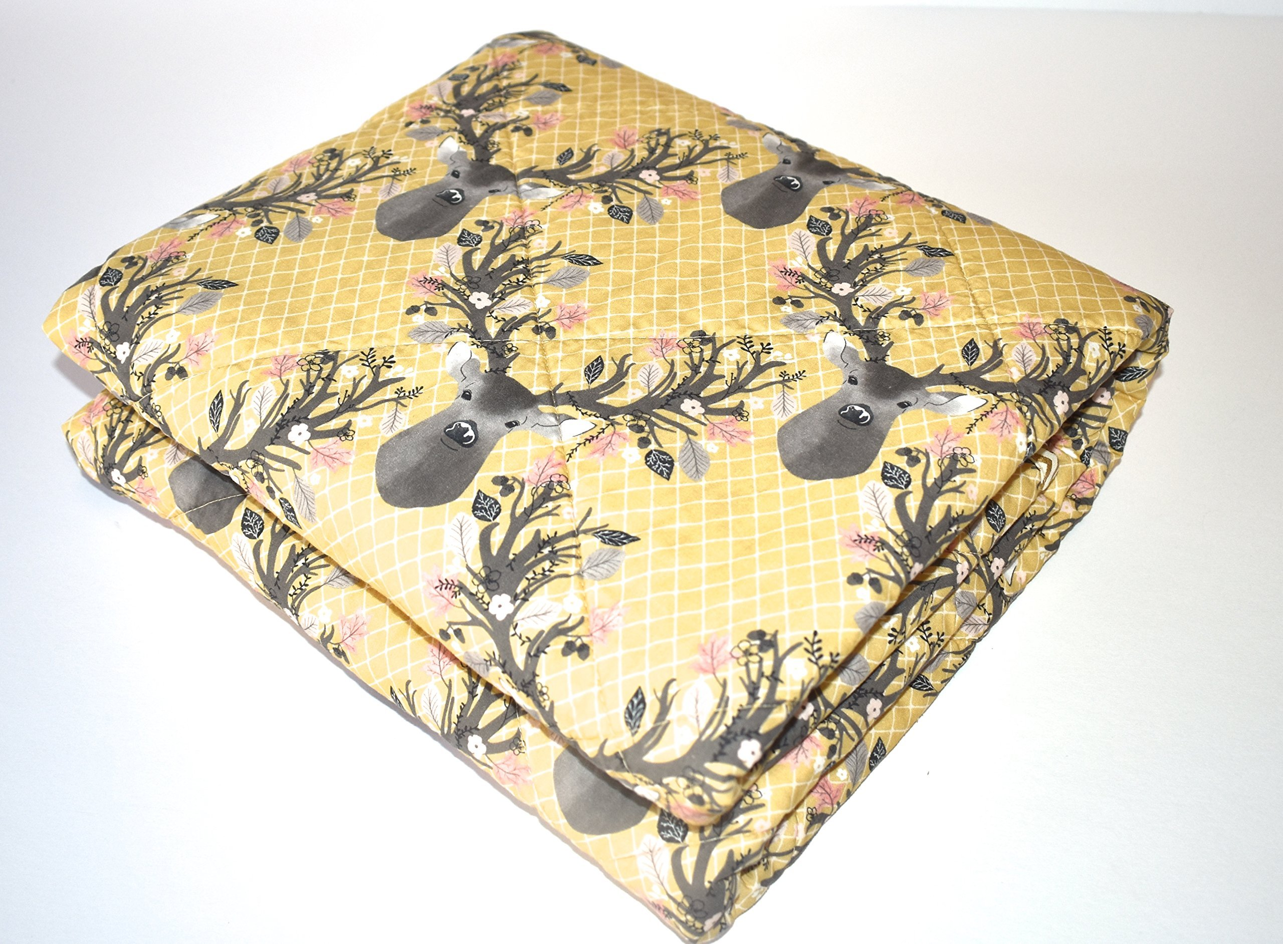 Antlers Quilt - Baby or Toddler size , deer, going stag, baby bedding, minky quilt