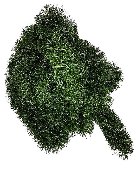 1 Stück Tannengirlande ca 5m lang, Dekogirlande 8 - 10cm, ca. 500cm Girlande Weihnachten