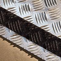 NAC INDUSTRIAL Antirutsch Klebeband NAC SAFETY SELF-ADAPTIVE - Stark Selbstklebend Antirutschband für gemusterte und gehobene Oberflächen - verschiedene Farben und Größen (5cm x 18.3m, Schwarz)