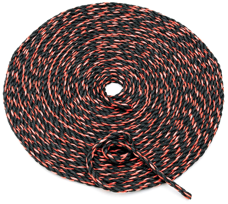 50 Orange and Black Truck Rope 9165000 Highland 1 piece BLK:91650