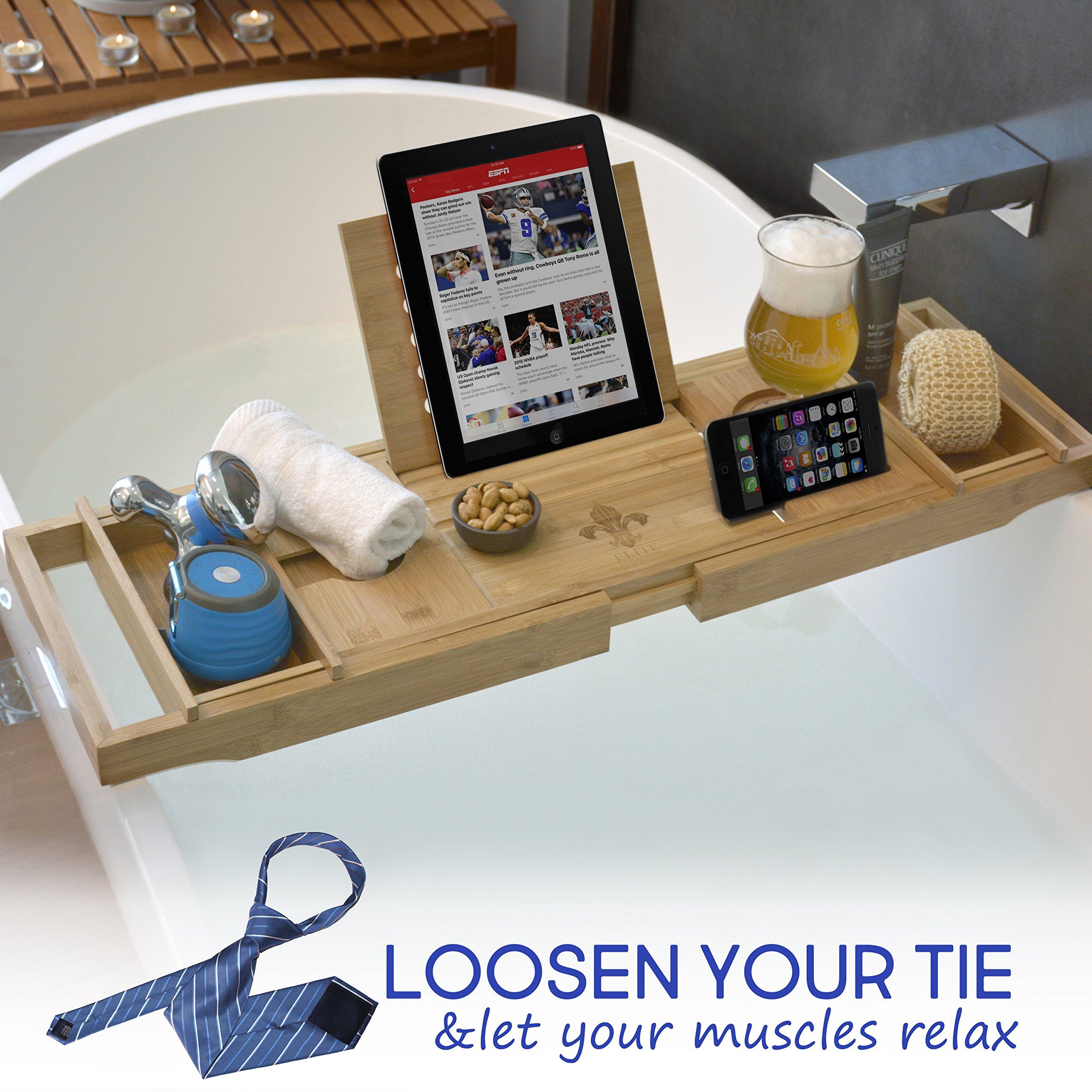 ELITE CREATIONS Bathtub Caddy Laptop Bed Desk – 2 In 1 Innovative ...