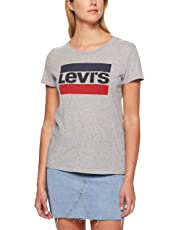 Levi's Women's The Perfect Tee Sportswear Logo, Smokestack Heather