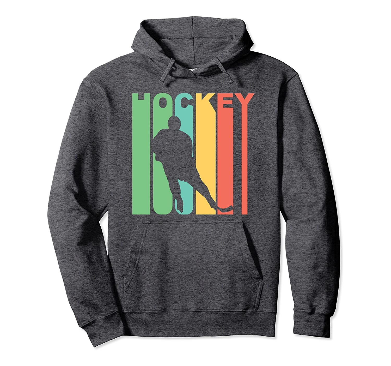 Retro 1970's Style Hockey Player Sports Hoodie