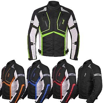HWK Chaqueta de moto para hombre de tela Dualsport Enduro ...