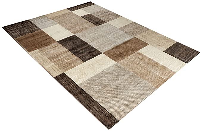 Couristan 6303/4343 Everest Geometrics/Brown-Multi 7-Feet 10-Inch by 11-Feet 2-Inch Rug