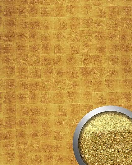 Revestimiento mural Diseño metal WallFace 17845 DECO LUXURY Panel decorativo autoadhesivo imitación de oro 2,