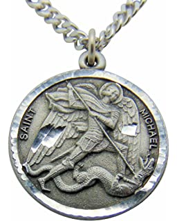 michael patron necklace catholic etsy market saint st medal il archangel