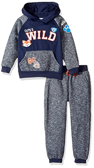 08b859aaf Amazon.com: Nannette Baby Boys' Graphic Hoodie and Jogger Pant Set ...
