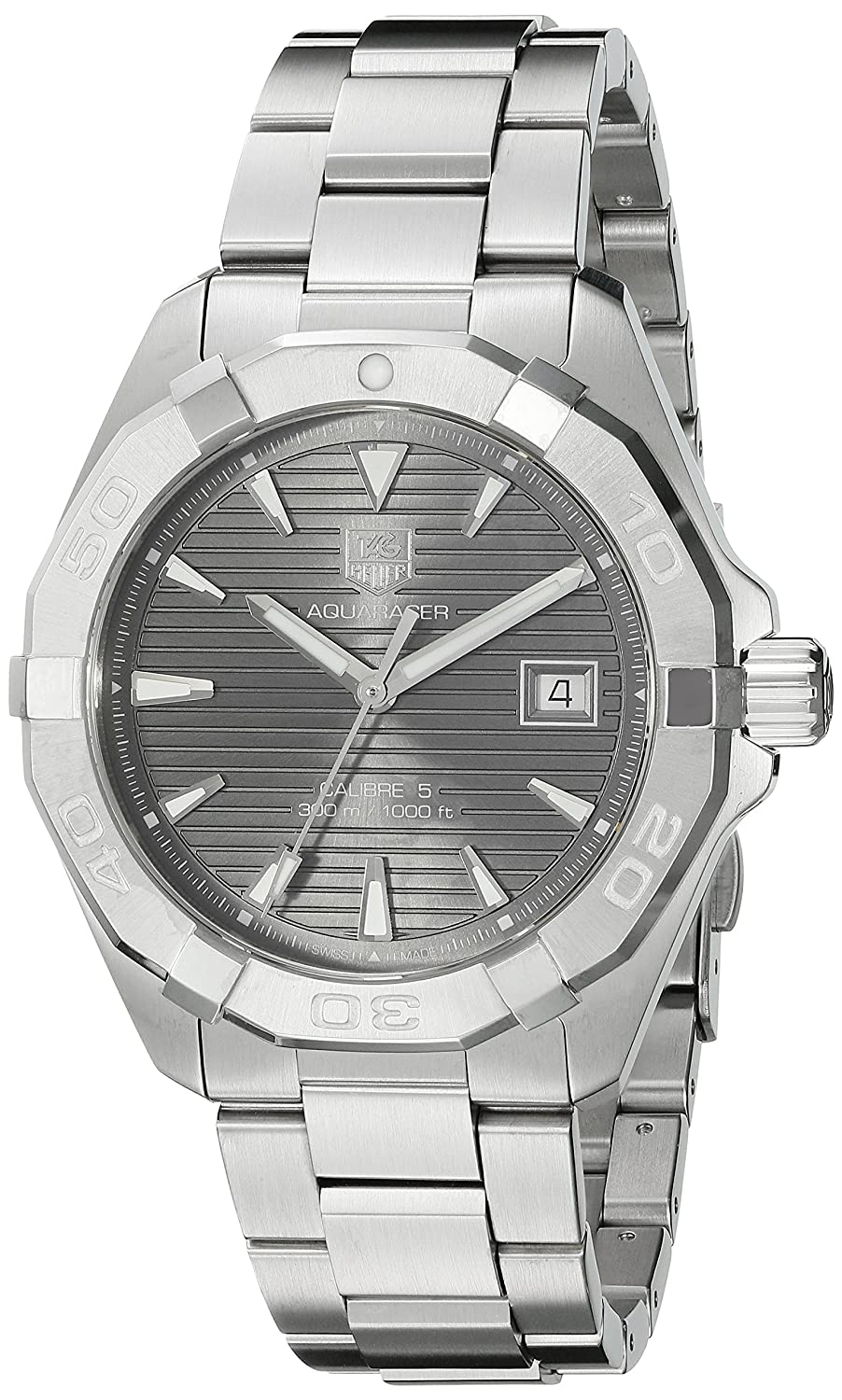 TAG Heuer Men s Aquaracracer Swiss-Automatic Watch with Stainless-Steel Strap, Silver, 20 Model WAY2113.BA0928