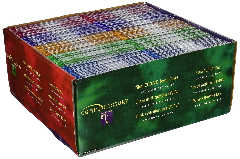 Amazon compucessory thin cd dvd jewel cases electronics