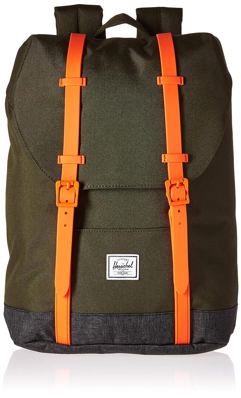 Herschel Kids Retreat Youth Childrens Backpack Forest Night//Black Crosshatch//Vermillion Orange One Size