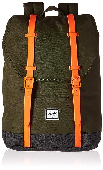 Amazon.com   Herschel Kids  Retreat Youth Children s Backpack Forest  Night Black Crosshatch Vermillion Orange One Size   Kids  Backpacks 5f61be43a5