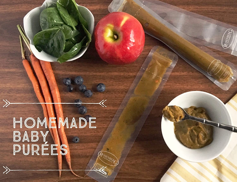 Rosenberg 100 ct comida Prep bolsa bolsa de almuerzo bolsa de hielo POP Mold DIY Popsicle 2, 200 x 250 mm aprobado por la FDA y BPA libre, Self Standing, ...