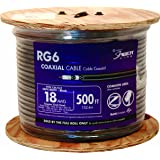 Southwire 56918445 500-Feet Quad Shields Type RG 6/U 18 AWG Coaxial Cable, Black