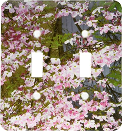 3drose Lsp 51384 2 Pink Dogwood Tree Toggle Switch Multi Switch Plates