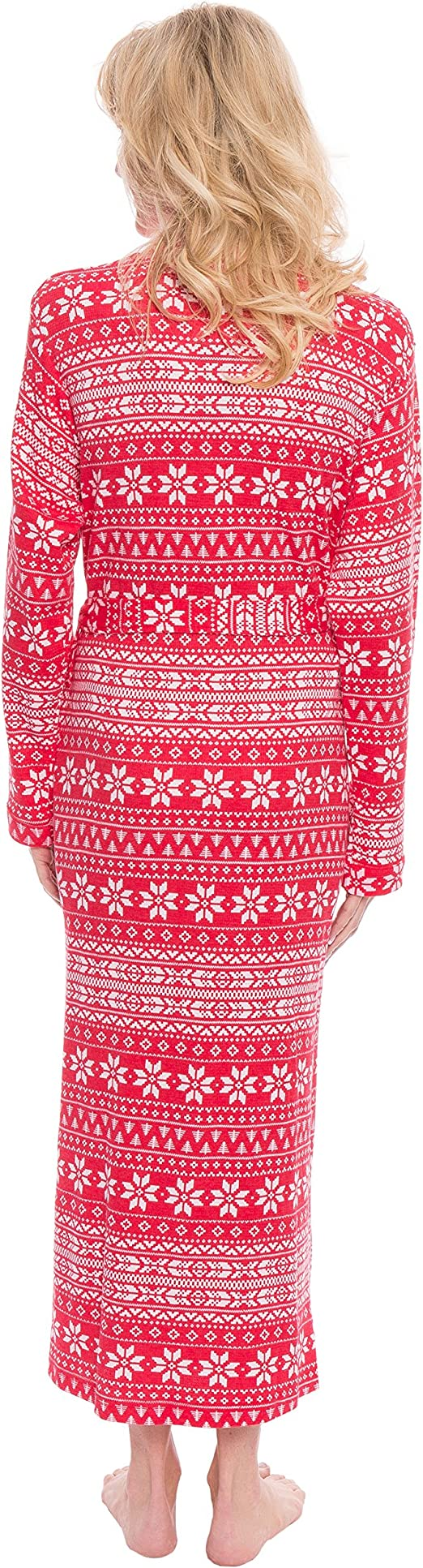 VINTATRE/Women/Kimono/Robes/Long/Knit/Bathrobe/Lightweight/Soft/Knit/Sleepwear/V-neck/Casual/Ladies/Loungewear