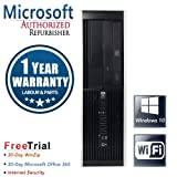 HP Elite 8000 Small Form Business High Performance Desktop Computer PC(Intel Core 2 Duo E8500 3.16GB Dual Core, 4GB RAM DDR3,250GB HDD,DVDROM,Wi-Fi,DPtoDVI Cable,Windows10 Home)(Certified Refurbished)
