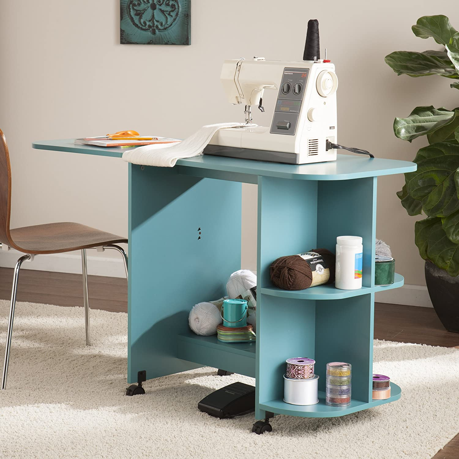 Amazon.com: Sewing Table - White: Kitchen & Dining