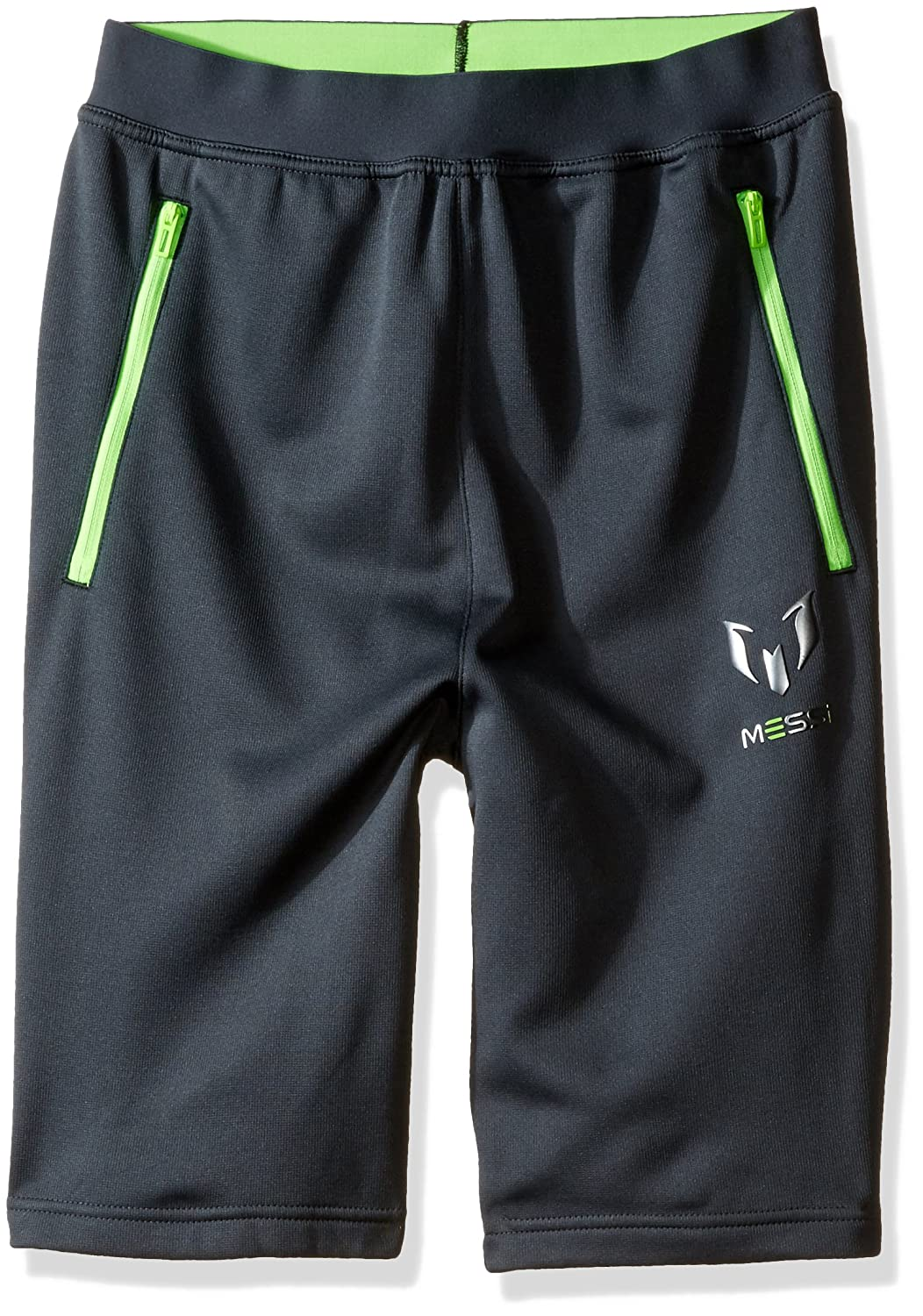 Adidas Boysサッカー少年のメッシBermuda Short X-Large Dark Grey/neon Green B01CGX265U
