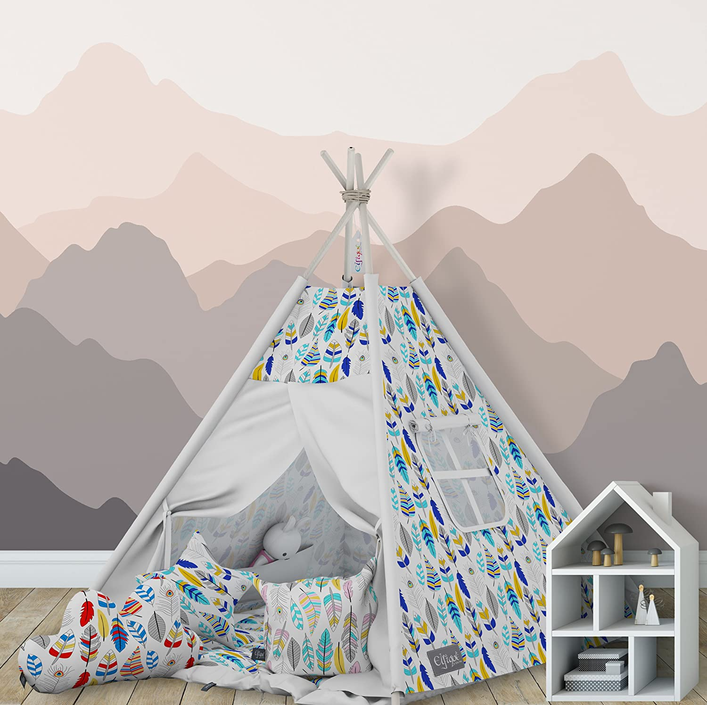 Tenda Tipi indiana Elfique con doppia coperta imbottita e 3 cuscini Klara Brist