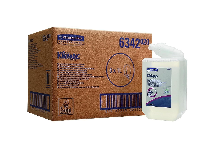 Scott 6342 Control Gel de Manos en Espuma de Uso Frecuente, 6 Estuches X 1 Litro, Transparente: Amazon.es: Industria, empresas y ciencia
