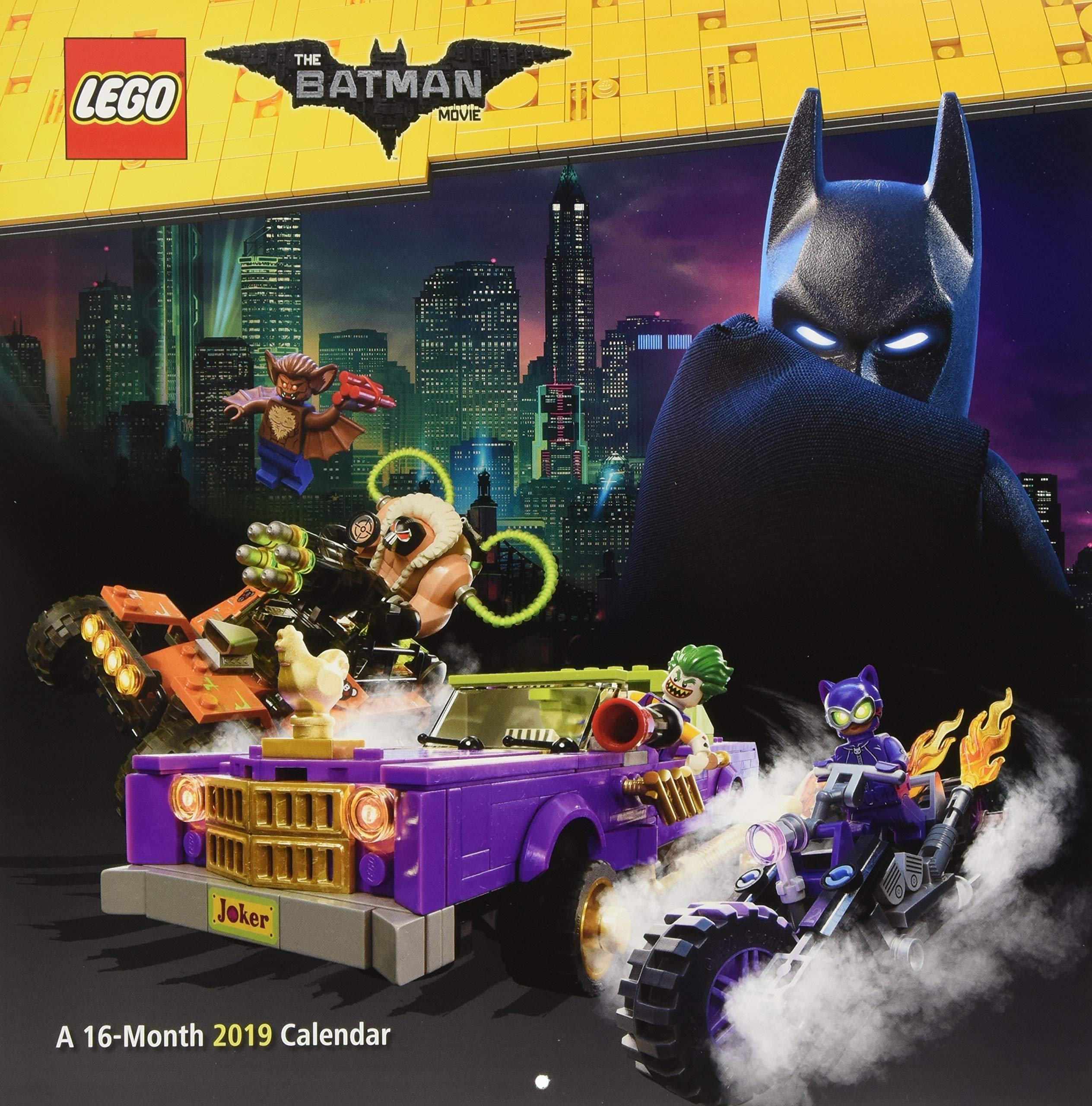 2019 The Lego Batman Movie Wall Calendar