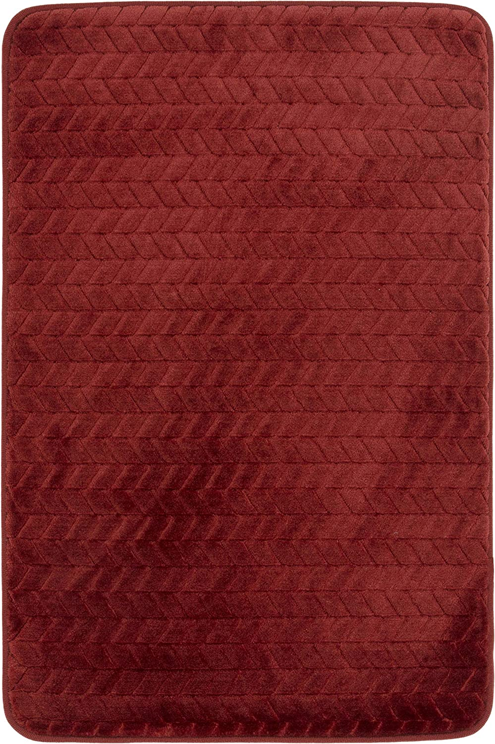 Mohawk Memory Foam Bath Rug | Stain Resistant 100% Polyester Pile (RED)