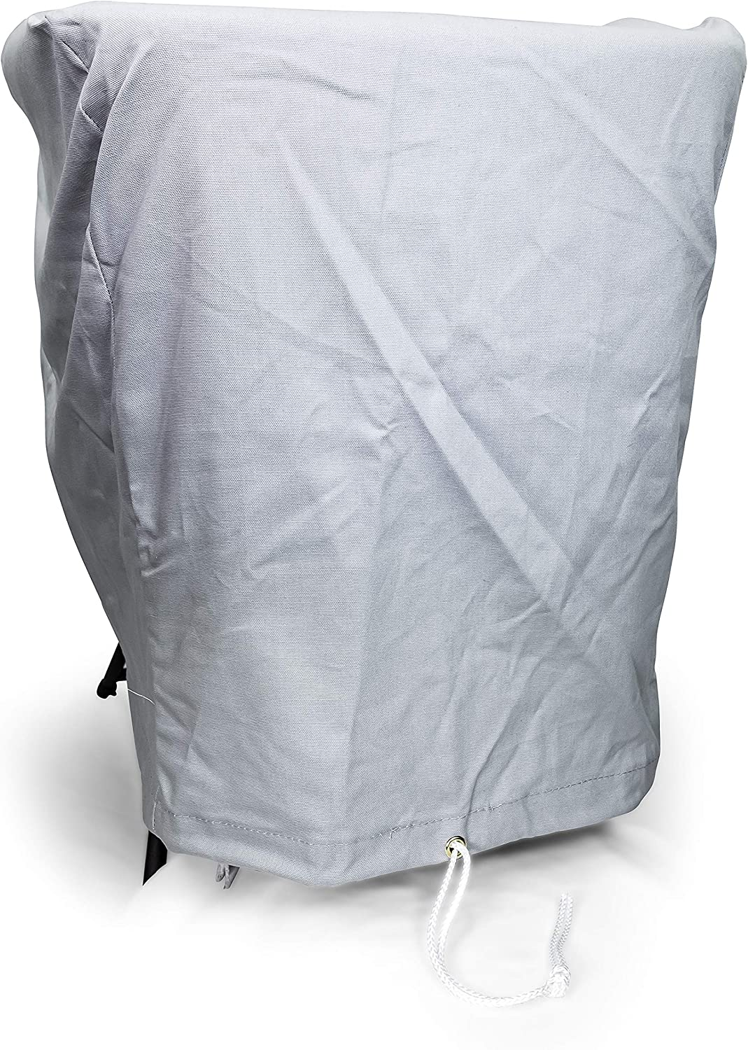 Camco 50127 Outboard Boat Motor Cover - for Motors Up to 50-115 HP - Features a Draw Cord for Easy Fastening, Gray