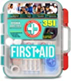 Be Smart Get Prepared 351 Piece First Aid Kit, Exceeds OSHA ANSI 2015 Standards for 100 People - Workplace, Home, Car, School, Emergency, Survival, Camping, Hunting, and Sports