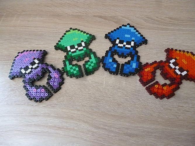 Sprite Squid Splatoon Hama Beads Pixel Art Amazonco