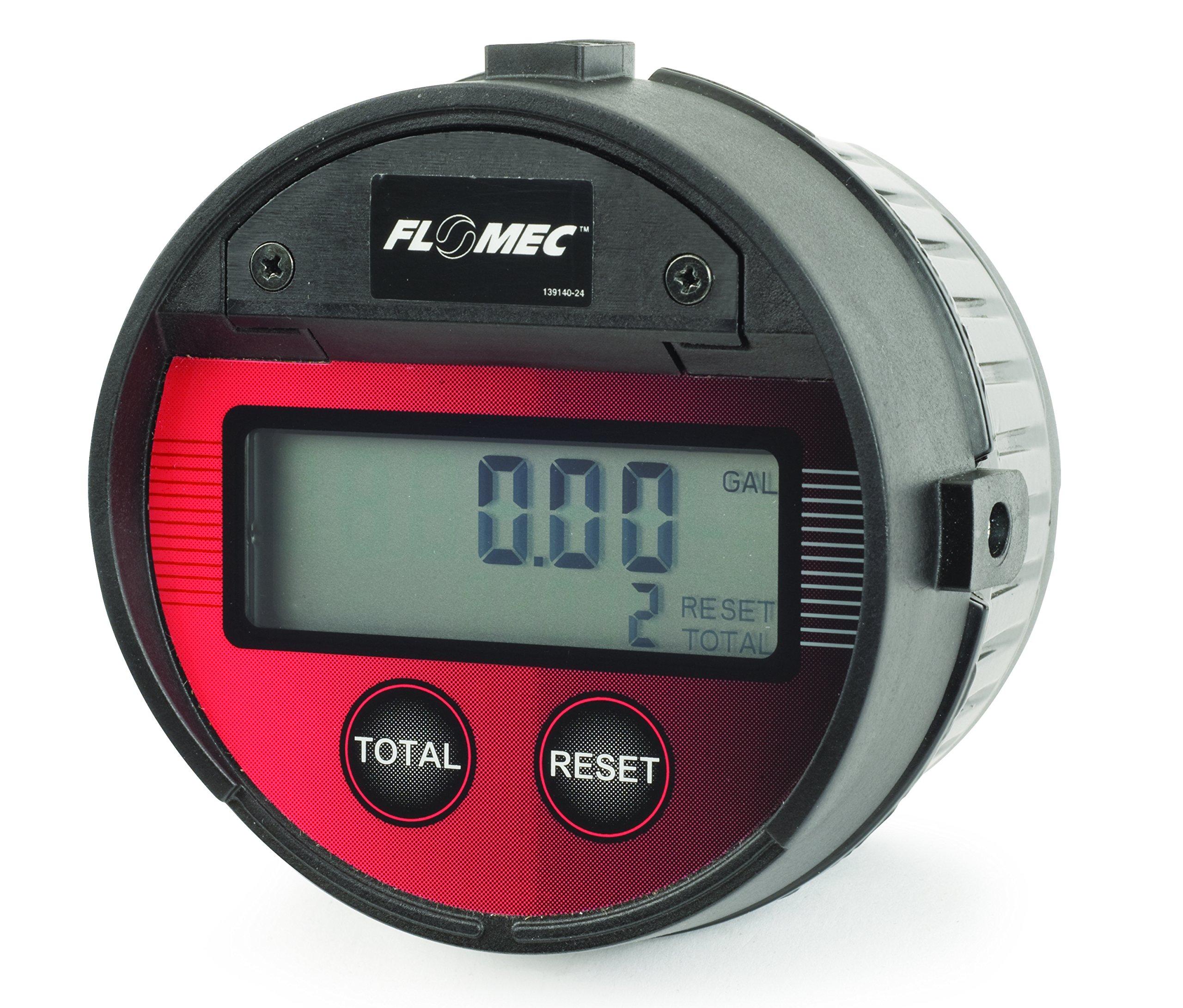 GPI LM51DN Aluminum Oval Gear Flowmeter, 0.26 to 7.8 gpm Flow Range, 1/2'' FNPT