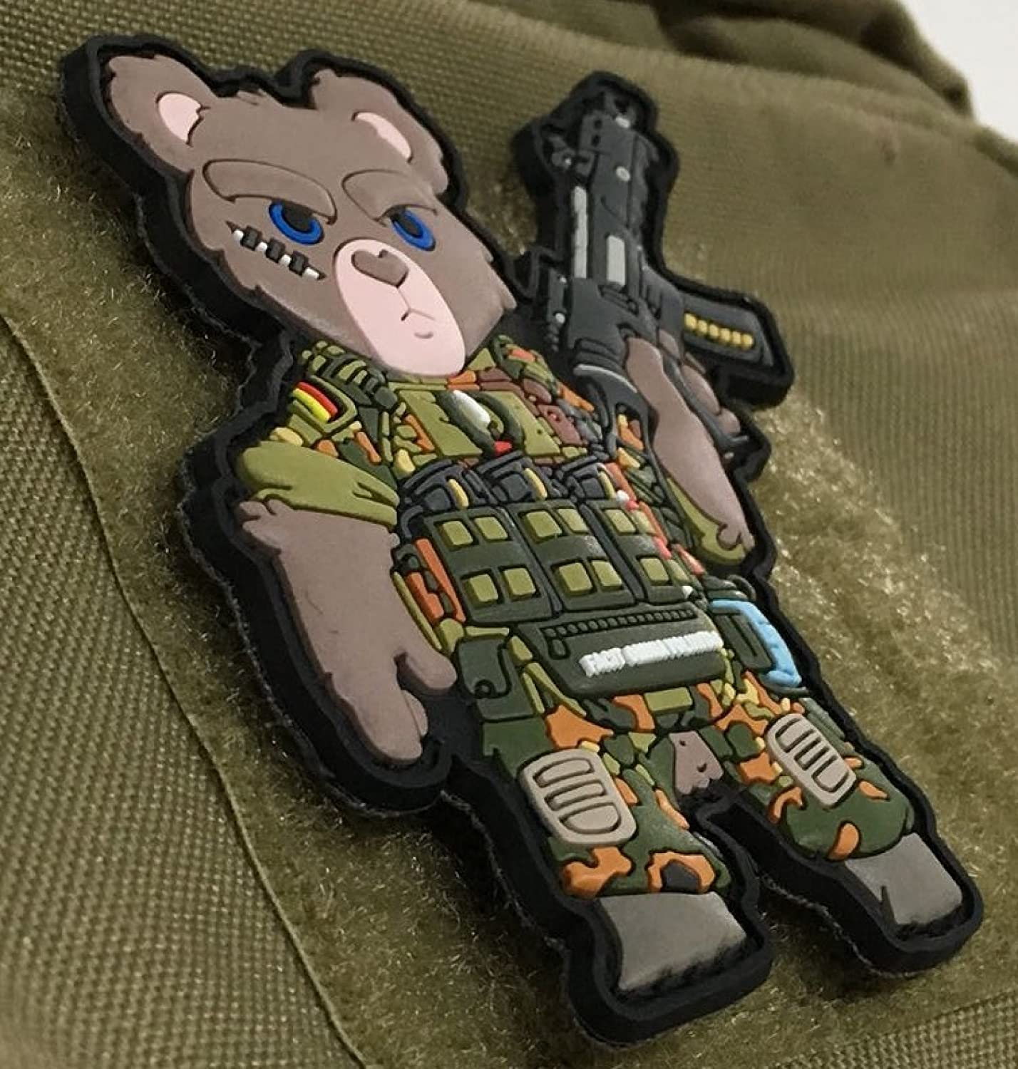 Hakenklett /Camouflage with G36/KSK Tatty Ted 3D TACOPSGEAR Tactical PVC Patch/