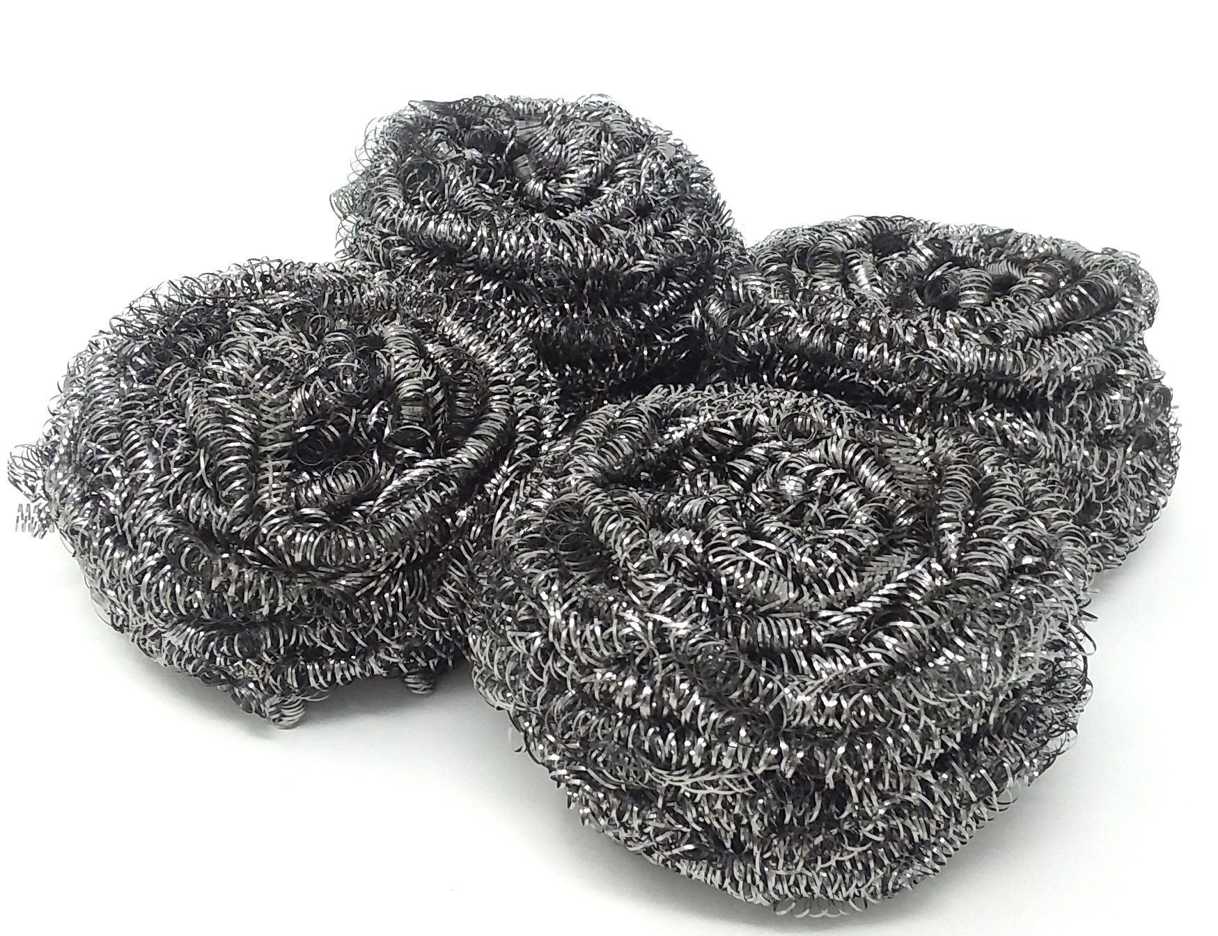 288 Small Round Mesh STAINLESS STEEL Scourer Sponge Wire For DEEP CLEANING Dishes, Pots, Pans And More WHOLESALE BULK LOT