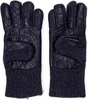 Dachstein Woolwear 100% Austrian Boiled Wool and Leather Trim Alpine Gloves in Black