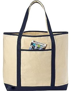 Amazon.com: Canvas Tote Beach Bag, Black - 22