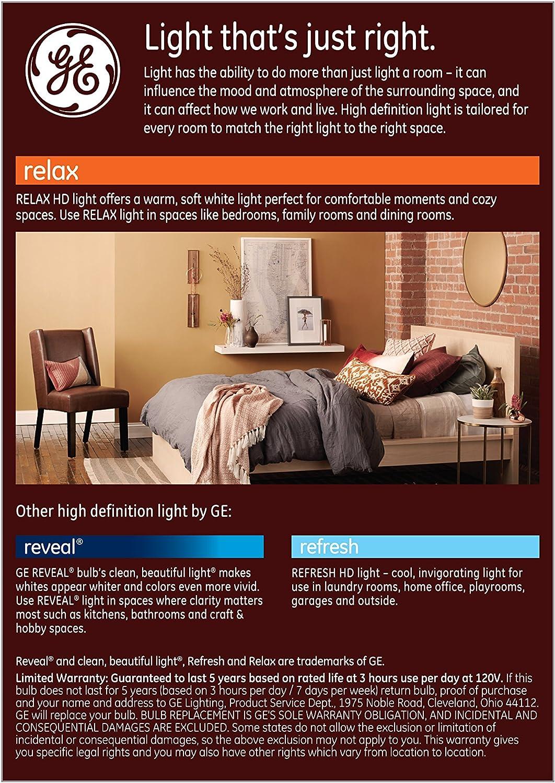 Daylight Title 20 Compliant 950-Lumen BR40 Bulb Medium Base GE Lighting 46329 Refresh HD LED 1-Pack 65-Watt Replacement