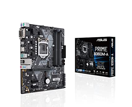 ASUS LGA1151 (300 Series) DDR4 HDMI DVI VGA M 2 mATX Motherboard (Prime  B360M-A)