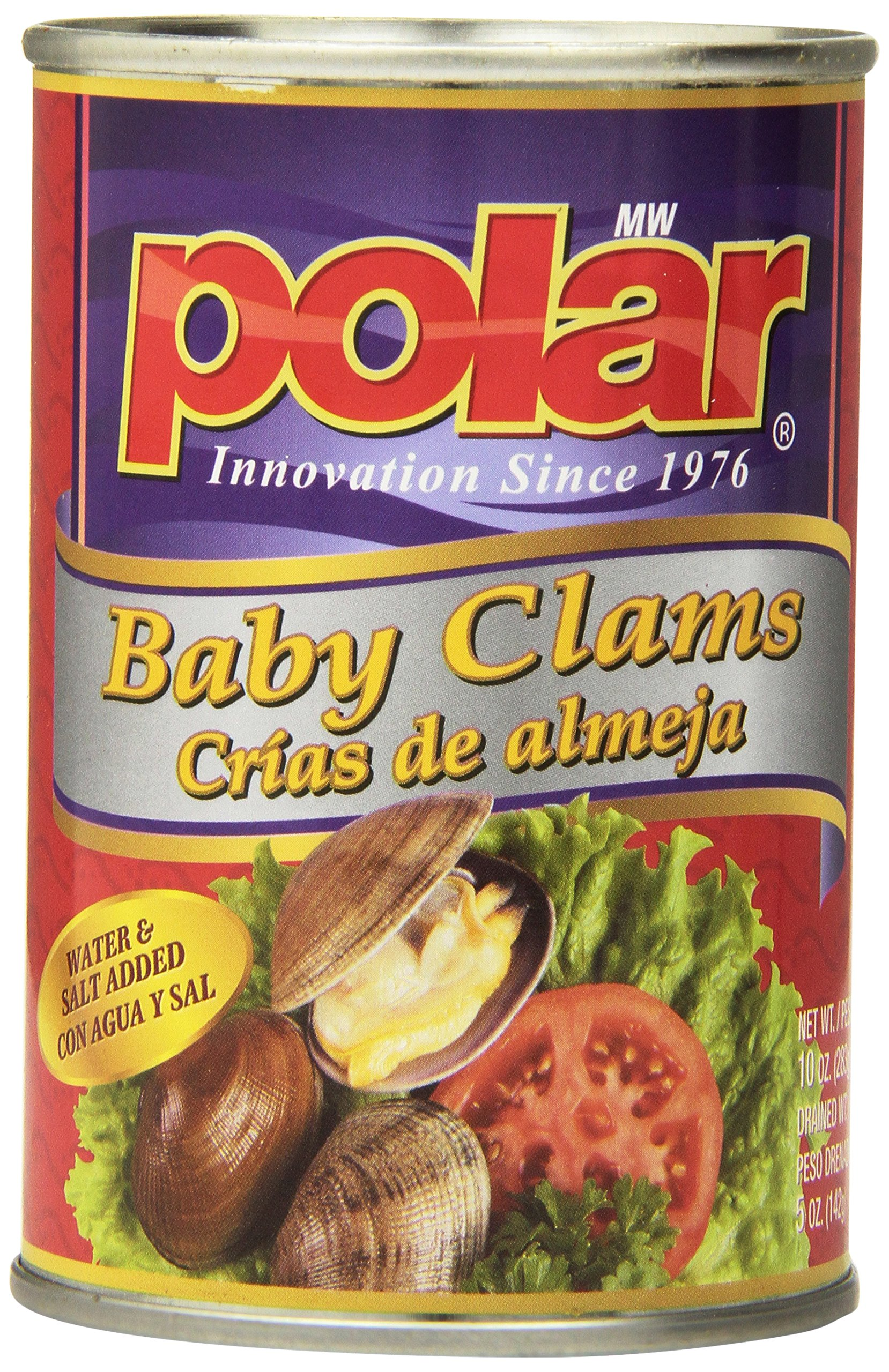 MW Polar Seafood, Whole Baby Clams, 10-Ounce (Pack of 12) by MW Polar