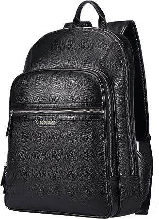 Men/'s Real Leather Business Backpack Rucksack Laptop bag College School Book bag