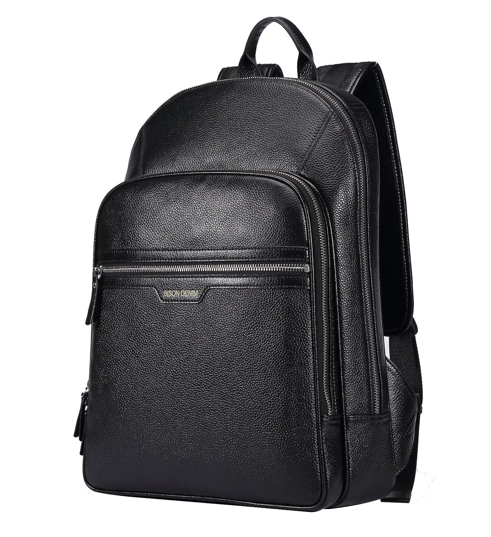 a4d2b943a7f66 Amazon.com: BISON DENIM Classic School Laptop Backpack Genuine ...