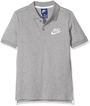 Nike B NSW Polo Matchup Camiseta de Manga Corta, Niños, Gris (Dk Grey Heather/White), L: Amazon.es: Deportes y aire libre