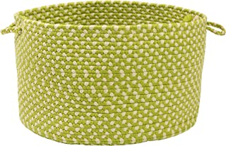 product image for Colonial Mills All-Weather Indoor/Outdoor Storage Basket, Lime Twist