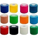 Vendaje PREMIUM para kinesiología tamaños 2,5 cm / 5 cm / 7,5 cm & 10 cm (número de unidades 1x, 3x, 6x y 12x), vendaje elástico de calidad para el deporte, el tiempo libre, la fisioterapia y la medicina. Tejido 100 % algodón, resistente al agua, nueva fórmula adhesiva para una mayor adhesión en circunstancias extremas. Recomendado por fisioterapeutas. ¡Marca de calidad con el certificado TÜV! ¡Disponible en muchos colores y tamaños! Longitud del rollo 5 m.