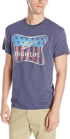 Miller Brewing Co. Men's Coors High Life Flag Short Sleeve T-Shirt