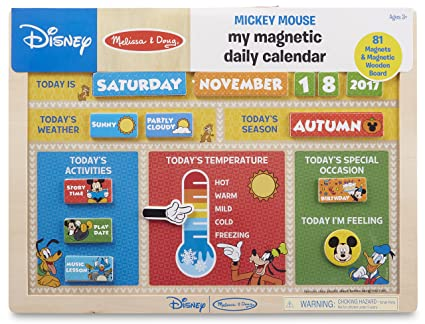 amazon com melissa doug disney mickey mouse my magnetic daily