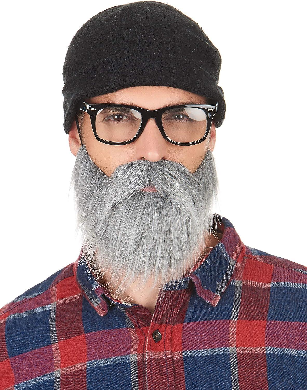Vegaoo Taglia UnicaBaffi e Barba Grigia da Adulto Taglia Unica Baffi e Barba Grigia da Adulto